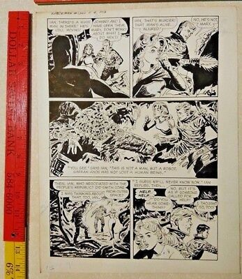Original comic art By JACK SPARLING SPACEMAN 2 PAGE 13 1961 DELL 1 OF A KIND ART