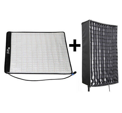 SOONWELL 5600K 62W Photography LED Video Light Lamp+Honeycomb Grid Softbox 18T
