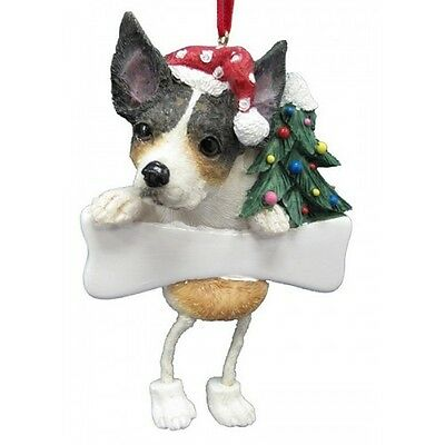 Rat Terrier Dangling Wobbly Leg Dog Bone Christmas Ornament