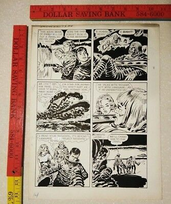 Original comic art By JACK SPARLING SPACEMAN 2 PAGE 14 1961 DELL 1 OF A KIND ART