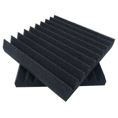 6 Pack 12 X 12 X 2 inch acoustic sound foam studio panels 10 sharp wedges - Y3Y5