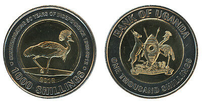 Uganda 1,000 - 1000 Shillings 10g Bimetallic Coin,2012,KM # 278,Mint,50th Anniv.