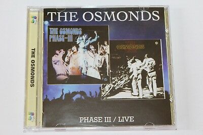 The OSMONDS Phase III / Live CD
