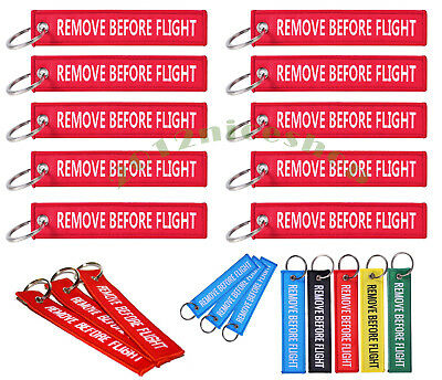 LOT Remove Before Flight Weaving Canvas Luggage Tag Label Key Chain