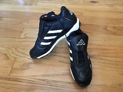 reputable site 90003 43a74 NEW Adidas Excelsior Classic Low Metal Mens Baseball Cleats Black Size 8.5  USA