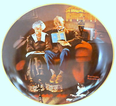 Evening Ease by Norman Rockwell Limited Edition Plate Campaign Series Knowles