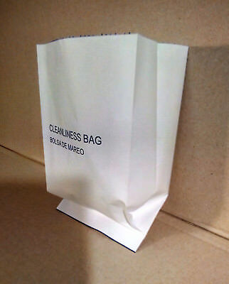 "1000 EA MOTION/VOMIT/BARF/AIR SICKNESS BAGS * NO TAPE SEAL SPECIAL*  8.5""x5.25"""