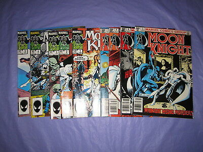 Moon Knight Lot Vol 1 1981 #3 8 9 11  Fist of Khonshu Vol 2 1985 #1 2 3 4 5