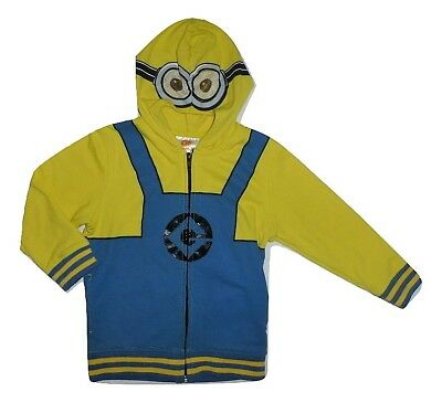 Despicable Me Minion Toddler Boys Hooded Hoodie Sweater Jacket 4T