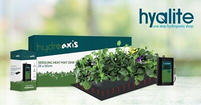 HYDRO AXIS FLEXIBLE HEAT MAT/PAD SMALL - 500 x 250mm WITH THERMOSTAT
