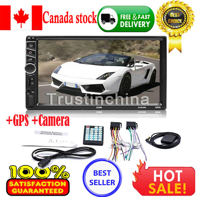 "7"" Quad Core 2DIN Android 7.1 3G WiFi Car Stereo Radio MP5 MP3 GPS Navi Player t"