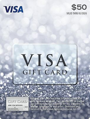 $50 Visa nonreloadable Card Activated And Ready To Use