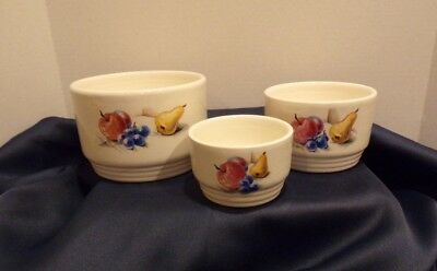 VINTAGE Knowles Utility Ware refrigerator storage bowls SELLING AS A SET
