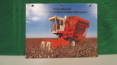 IHC Cotton Harvester brochure on Model 95 Self Propelled from 1974, nice shape.