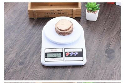 10kg*1g LCD White Digital Kitchen Scale Home Diet Food Baking Medicinal Weight