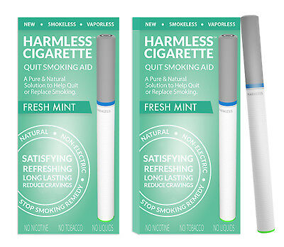 Harmless Cigarette / Natural Stop Smoking Aid / Quit Smoking Remedy 2 Pack)