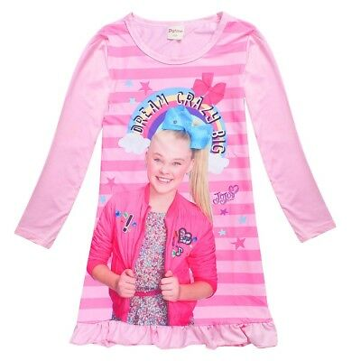 JOJO SIWA Girls spring autumn long sleeve dress nightie pjs pyjamas size 2-10