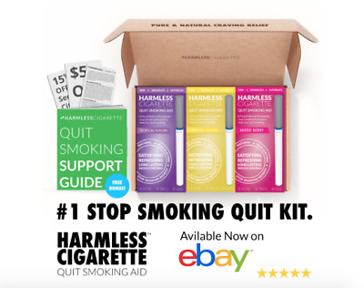 Harmless Cigarette Stop Smoking Aid 4 Week Quit Kit / Habit Replacement (3 Pack)