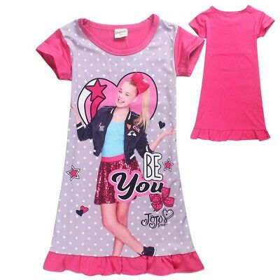JOJO SIWA Girls summer dress nightie pjs pyjamas size 2-8 au stock xmas