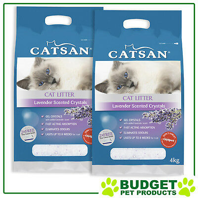 Catsan Crystal Lavender Scented Cat Litter For Cats 8kg