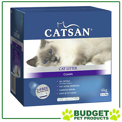 Catsan Crystal Litter With Tray Liners x 2 For Cats 6kg