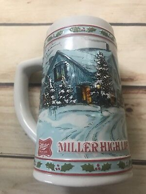 Miller High Life Christmas Beer Stein Limited Edition Mug Collectible Vtg