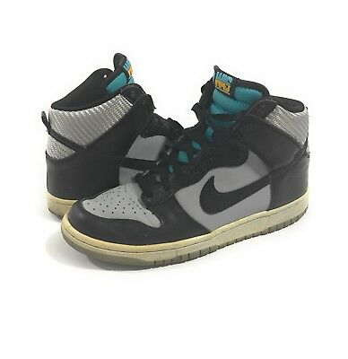 "half off 27daa 9a364 Nike Dunk High Shoes ""Washington"" Wolf Grey Black Turquoise Blue size 8"