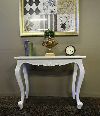 Beautiful Opulent French Provincial Solid Timber Vintage Console Side Sofa Table