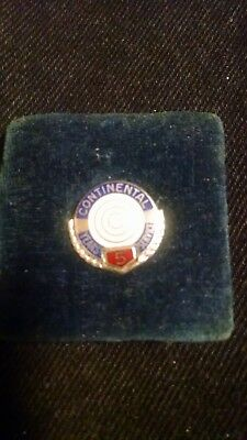 continental can company 5 years service pin made of sterling silver