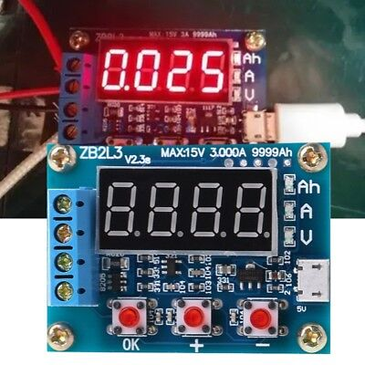 ZB2L3 Li-ion Lithium Lead-acid Battery Capacity Meter Tester Discharge Analyzer