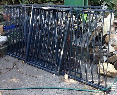 Pool Fence panels, posts, gate; used; Black; Garden fence; Farm fencing