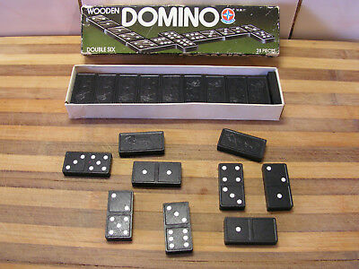 Vintage Wooden Domino, Double Six, Estrela, 28 Pack, 1964, VGC