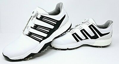 4057c59fe adidas Powerband Boa Boost Golf Shoe White and black size 11.5 M