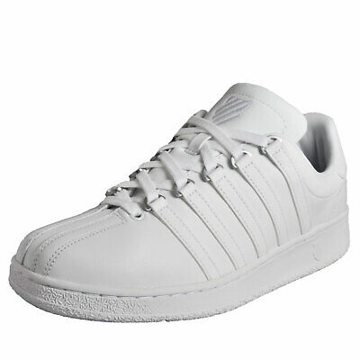 K Swiss Classic Vintage Men's Leather Casual Leather Retro Trainers White
