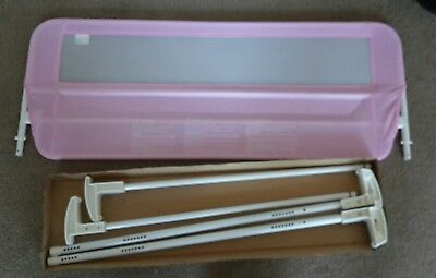 Toddler bed safety rail guard pink