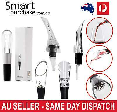 Wine Spout Acrylic Aerating Pourer Decanter Aerator Stainless 8cm/9cm/13cm/16cm&