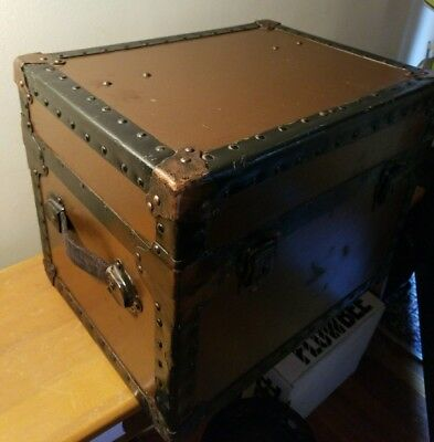 Rare sized Child's Steamer / Military ? Trunk Nice!!