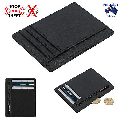 RFID Blocking Protect Slim Mens Wallet ID Credit Card Holder Case Purse 8 Slots
