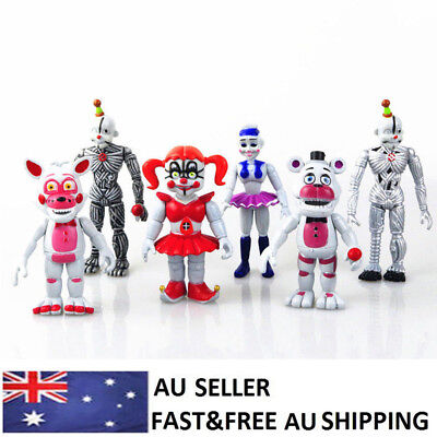 FNAF Five Nights At Freddy's Game Action Figure Doll Decor Toys Kids Gifts 6 PCS