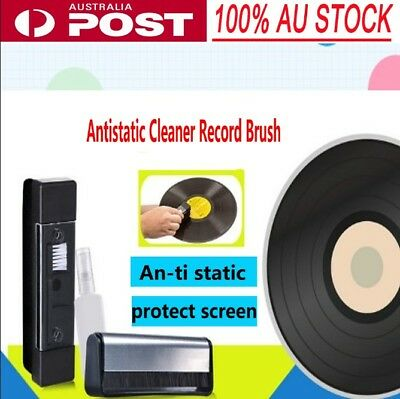 AU Vinyl Antistatic Carbon Fiber Record Dust Cleaner Brush Turntable Fibre Clean
