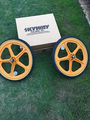 Skyway Tuffs Old School Bmx Tractor Yellow