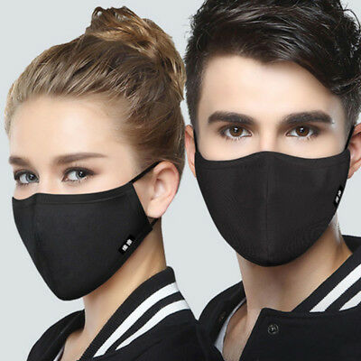 Anti Dust Pollution Smog PM2.5 Face Mouth Mask Cotton Respirator + 8 Filters
