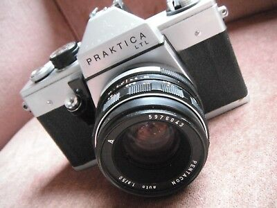 Prakitica LTL vintage 35mm SLR with f1:8 50mm lens (NOT working)
