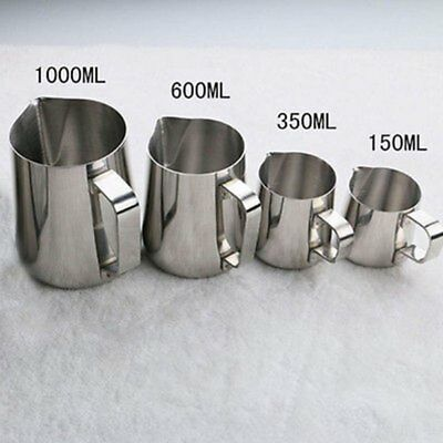 150/350/600/1000 ml Espresso Stainless Steel Coffee Frothing Milk Latte Jug Cup