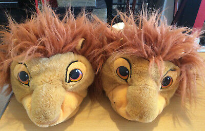 Disney The Lion King Mufasa/simba Adult Large Slippers ''rare''