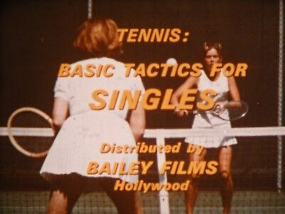 Tennis: Basic Tactics For Singles 1967 16mm short film Tam O'Shaughnessy