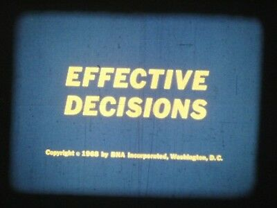 Effective Decisions 1968 16mm short film Documentary