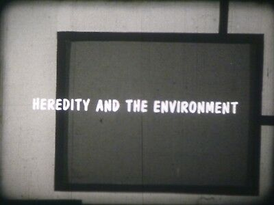 Heredity And The Environment 16mm short film 1959 B&W Dr. Burr Roney