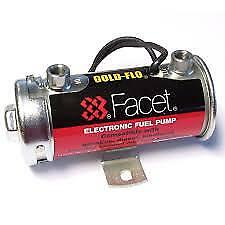 Facet Fuel Pump Competition Silver Top Electric  5.0-6.0 PSI  STC505 Brisca F2