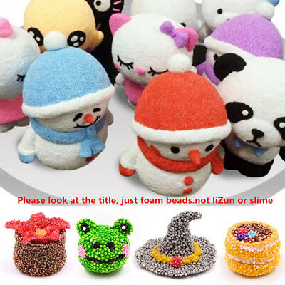 Small Tiny Foam Beads Slime Balls DIY Snow Mud Toy Foam Filler Kid New Toy Gifts